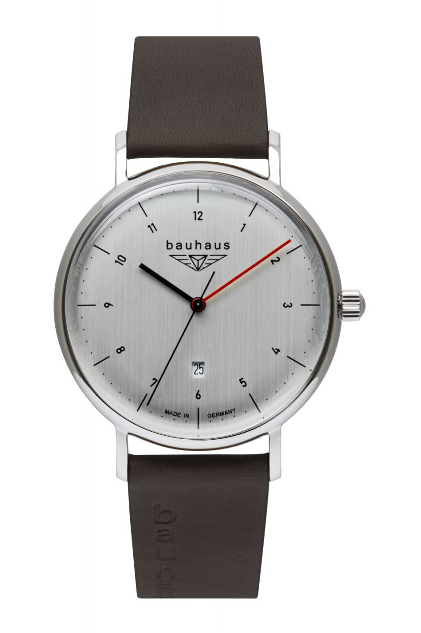 HAU, Bauhaus Quarz 3Zeiger+Datum Ronda Kal. 505, Steelcase 41mm, wr 5atm