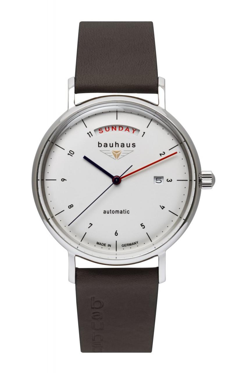 HAU, Bauhaus Automatik DayDate Miyota Kal. 8285 21 Jewels, Steelcase 41mm, wr 5atm