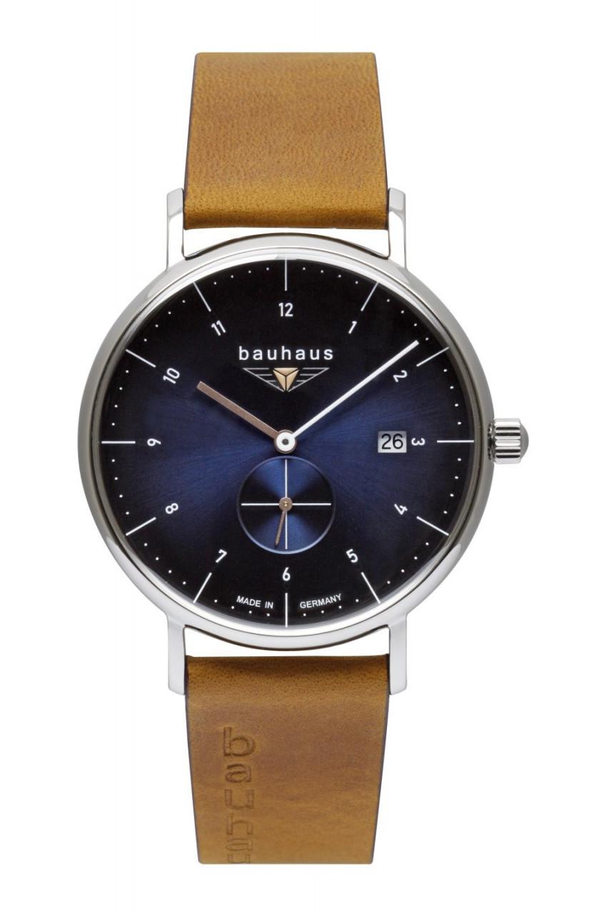 HAU, Bauhaus Quarz kl.Sekunde Ronda Kal. 6004.D Swiss made, Steelcase 41mm, wr 5atm